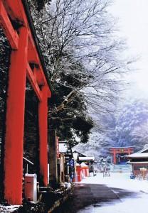 「雪の鷲子山上神社」 森嶋新勝様 那珂川町鷲子山上神社